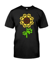 Dachshund Sunflower Classic T-Shirt front