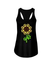 Dachshund Sunflower Ladies Flowy Tank thumbnail