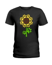 Dachshund Sunflower Ladies T-Shirt thumbnail