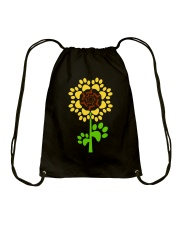 Dachshund Sunflower Drawstring Bag thumbnail