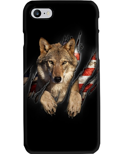 Wolf Inside Flag
