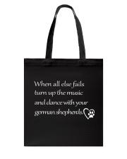 German Shepherd - When All Else Fails Tote Bag thumbnail