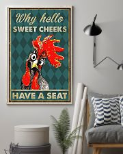 CHICKEN WHY HELLO SWEET CHEEKS 16x24 Poster lifestyle-poster-1