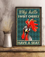 CHICKEN WHY HELLO SWEET CHEEKS 16x24 Poster lifestyle-poster-3
