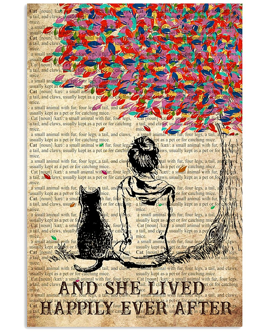 Cat And She Lived Happily Ever After 16x24 Poster
