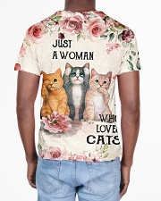 Cat Just A Woman Flower All-over T-Shirt aos-all-over-T-shirt-lifestyle-back-02