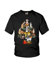 Greyhound Christmas Youth T-Shirt thumbnail