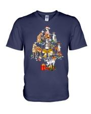 Greyhound Christmas V-Neck T-Shirt thumbnail