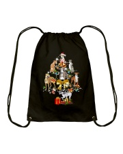Greyhound Christmas Drawstring Bag thumbnail