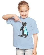 Gray Great Dane I Love Dad Youth T-Shirt lifestyle-youth-tshirt-front-2