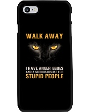 Cat Walk Away and Dislike for Stupid People Phone Case thumbnail