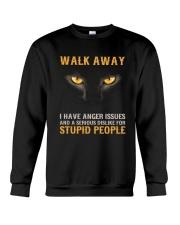 Cat Walk Away and Dislike for Stupid People Crewneck Sweatshirt thumbnail