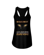Cat Walk Away and Dislike for Stupid People Ladies Flowy Tank thumbnail