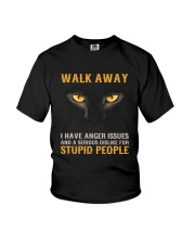 Cat Walk Away and Dislike for Stupid People Youth T-Shirt thumbnail