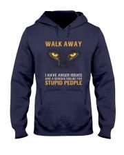Cat Walk Away and Dislike for Stupid People Hooded Sweatshirt thumbnail