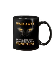 Cat Walk Away and Dislike for Stupid People Mug thumbnail