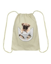 Pug Inside Pocket Drawstring Bag thumbnail