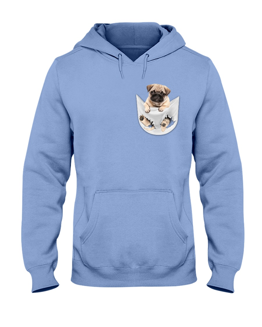 Pug Inside Pocket Hooded Sweatshirt