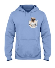 Pug Inside Pocket Hooded Sweatshirt front