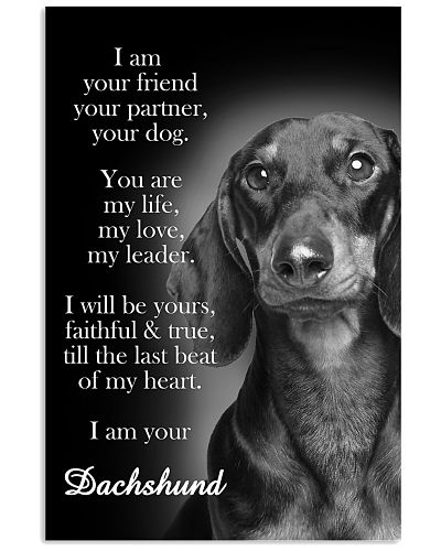 Dachshund I Am Your Friend Poster