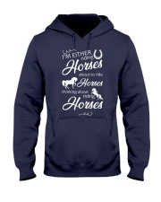 I'm Either Riding Horses Hooded Sweatshirt thumbnail