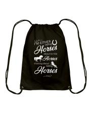 I'm Either Riding Horses Drawstring Bag thumbnail
