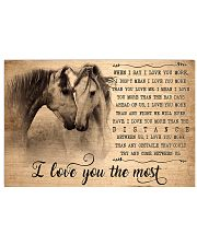 Horse I Love You The Most 17x11 Poster front
