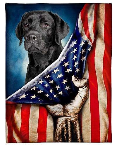 Labrador Funny Blanket Flag Graphic Design