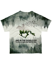 Horse And Into The Forest I Go All-over T-Shirt back