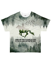 Horse And Into The Forest I Go All-over T-Shirt front