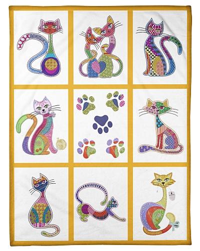 Cat Funny Blanket Pattern Graphic Design