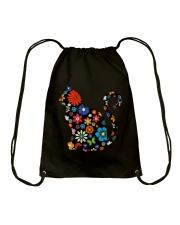 CAT FLOWER Drawstring Bag thumbnail