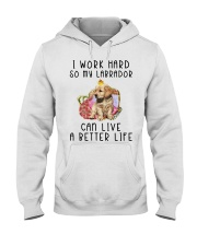 Labrador- Live Better Life Hooded Sweatshirt front