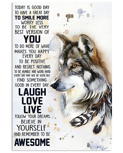 Wolf Today Is A Good Day Poster