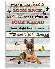 German Shepherd When It's To Hard To Look Back  11x17 Poster front
