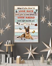German Shepherd When It's To Hard To Look Back  11x17 Poster lifestyle-holiday-poster-1