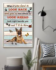 German Shepherd When It's To Hard To Look Back  11x17 Poster lifestyle-poster-1