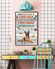 German Shepherd When It's To Hard To Look Back  11x17 Poster lifestyle-poster-6