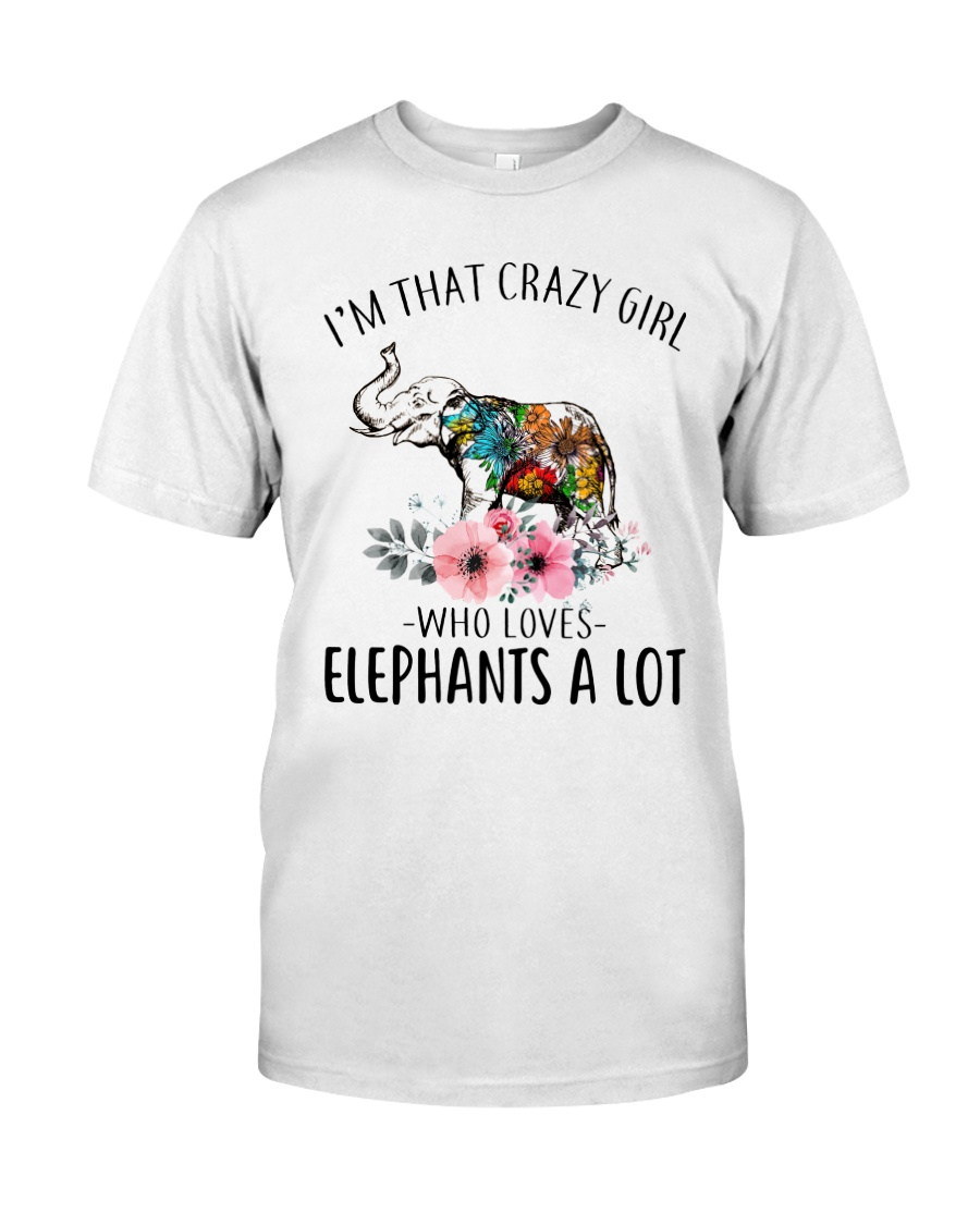 Crazy Girl Loves Elephant Classic T-Shirt