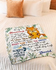 "To My Mummy I've Only Been With You Fox Blanket Small Fleece Blanket - 30"" x 40"" aos-coral-fleece-blanket-30x40-lifestyle-front-01"