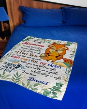 """To My Mummy I've Only Been With You Fox Blanket Small Fleece Blanket - 30"""" x 40"""" aos-coral-fleece-blanket-30x40-lifestyle-front-02"""