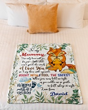 "To My Mummy I've Only Been With You Fox Blanket Small Fleece Blanket - 30"" x 40"" aos-coral-fleece-blanket-30x40-lifestyle-front-04"
