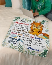"To My Mummy I've Only Been With You Fox Blanket Small Fleece Blanket - 30"" x 40"" aos-coral-fleece-blanket-30x40-lifestyle-front-07"