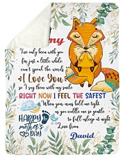 "To My Mummy I've Only Been With You Fox Blanket Large Sherpa Fleece Blanket - 60"" x 80"" thumbnail"