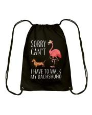 I Have To Walk My Dachshund Drawstring Bag thumbnail