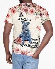 Schnauzers 3D Just A Woman All-over T-Shirt aos-all-over-T-shirt-lifestyle-back-03