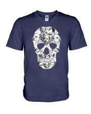 Dalmatian Skull V-Neck T-Shirt thumbnail
