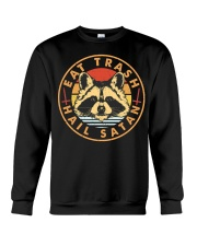 Raccoon Eat Trash Hail Satan Crewneck Sweatshirt thumbnail