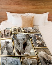 "Elephant Funny Beauty Graphic Design Large Fleece Blanket - 60"" x 80"" aos-coral-fleece-blanket-60x80-lifestyle-front-02"