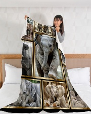 "Elephant Funny Beauty Graphic Design Large Fleece Blanket - 60"" x 80"" aos-coral-fleece-blanket-60x80-lifestyle-front-11"